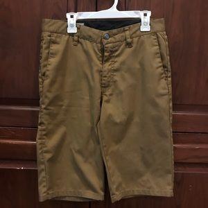 Boys size 16 dark khaki Volcom shorts